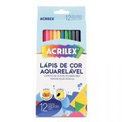 LÁPIS DE COR AQUARELÁVEL COM 12 CORES