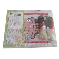 KIT DE BORDADO E COLAGEM - CUPCAKE