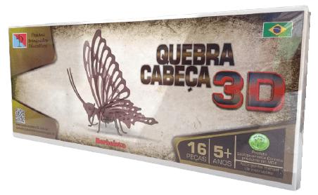 QUEBRA CABEÇA 3D - BORBOLETA